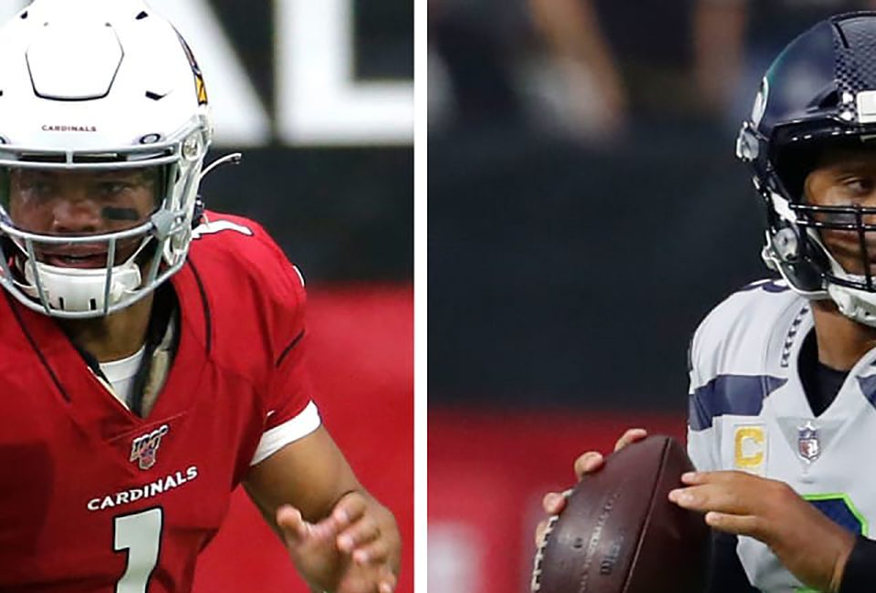 2nd year QB Kyler Murray and veteran Seahawks QB Russell Wilson hopes to steal the NFC West crown from the 49ers in 2020